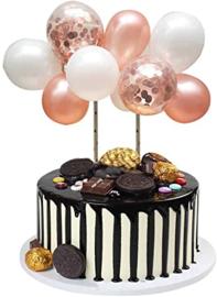 Balloon cake topper Rose Gold (house of cake)