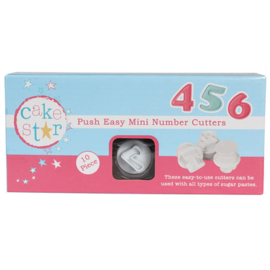 Cake Star mini Numbers cutters 10 st