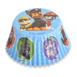 Baking cups Paw Patrol (baby blue) - 50 pcs