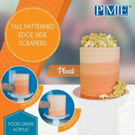 PME Patterned Edge Side Scraper Pleat
