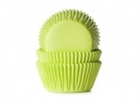 Cake cups  LIME GROEN-House of Marie 50 st