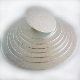 Cake board Silver rond 25 cm per 50 st