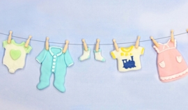 KSD Baby Clothes Washing line Silikonform