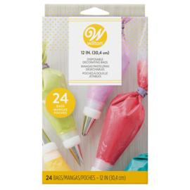 Wilton Disposable Decorating Bag 30 cm - 24 pc (poches à douille)