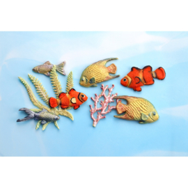 Fish, Seaweed and Coral by Katy Sue (Fisch, Tang und Koralle)