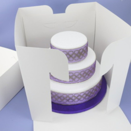 Boîte à gâteau extra haute 35.5 x 35.5 x 33 cm par 10 pcs