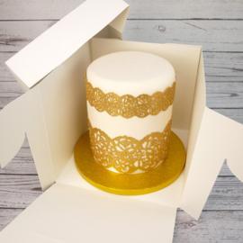 Boîta à gâteau extra haute 23 x 23 x 20 cm par 10 pièces