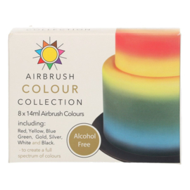 Sugarflair Airbrush Colour Collection Alcohol Free 8 x 14 ml