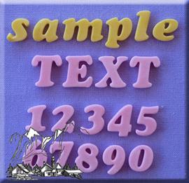 Cookie Font alfabet + cijfers 12 mm