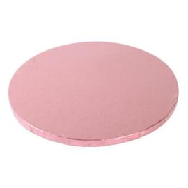 Cake Drum Pink (rose) rond 25 cm.