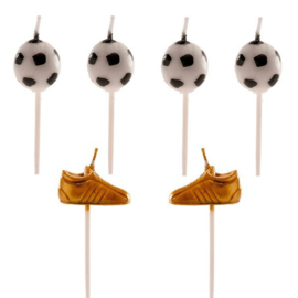 Football Bougies 3D - 6 pcs