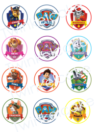 cupcakeprint paw patrol personages