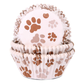 Baking Cups House of Marie Paw Brown 50 st