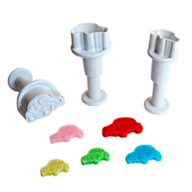 Mini cars plunger/cutter set 3 st