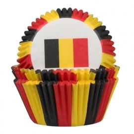 Cake Cups Belgische vlag-House of Marie 50 st