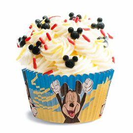 Mickey Mouse baking cups - 50 st (blauw/geel)