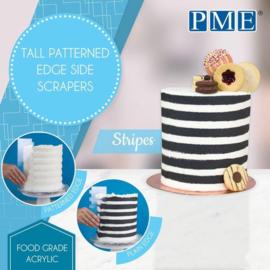 PME Patterned Edge Side Scraper Stripes