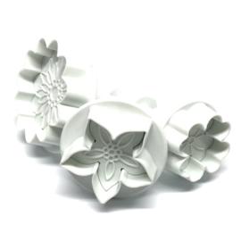 Bloemen mix plunger/cutter set 3 st