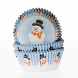 Baking cups sneeuwman
