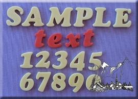Cookie Font alfabet  + cijfers set 18 mm