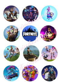 Fortnite imprimé comestible cupcake 2