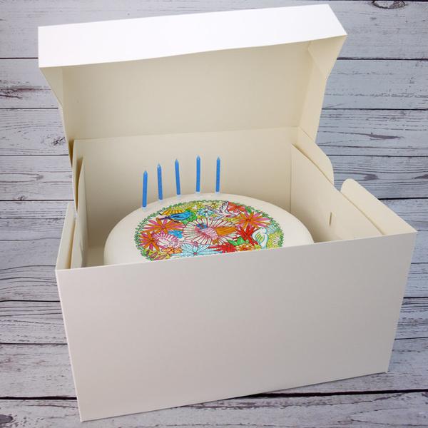 Hoge taartdoos 33 x 33 x 18 cm per 10 stuks