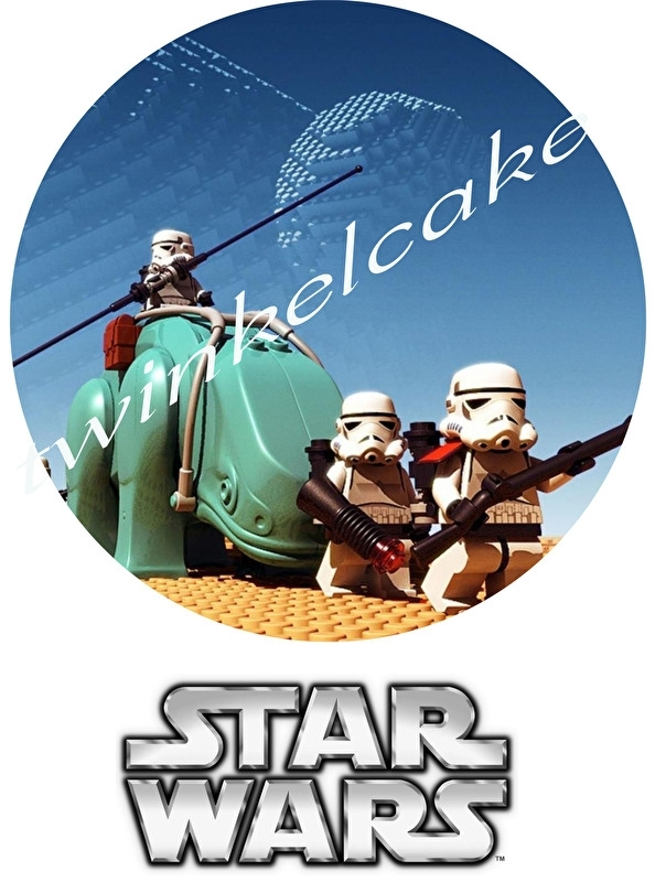 Taartprint lego star wars 3