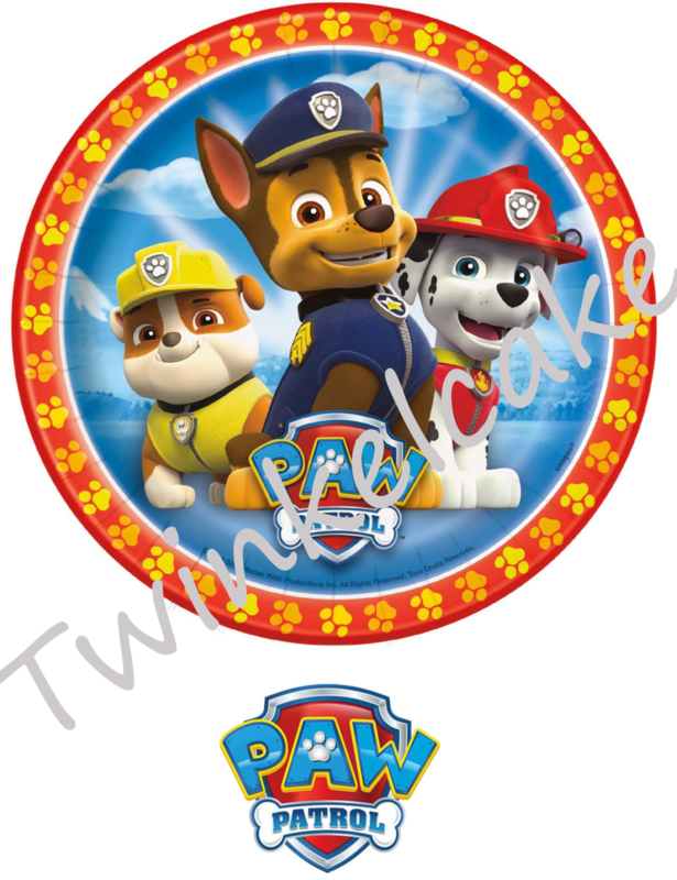 taartprint paw patrol 2