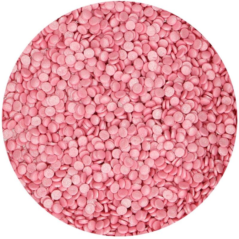 Mini Confetti Metallic Pink - 70 gr
