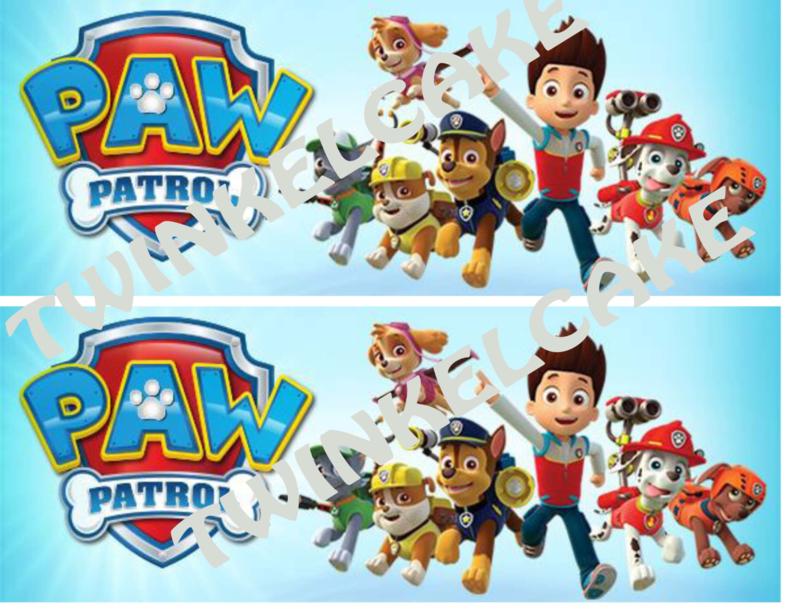Taartband paw patrol 1