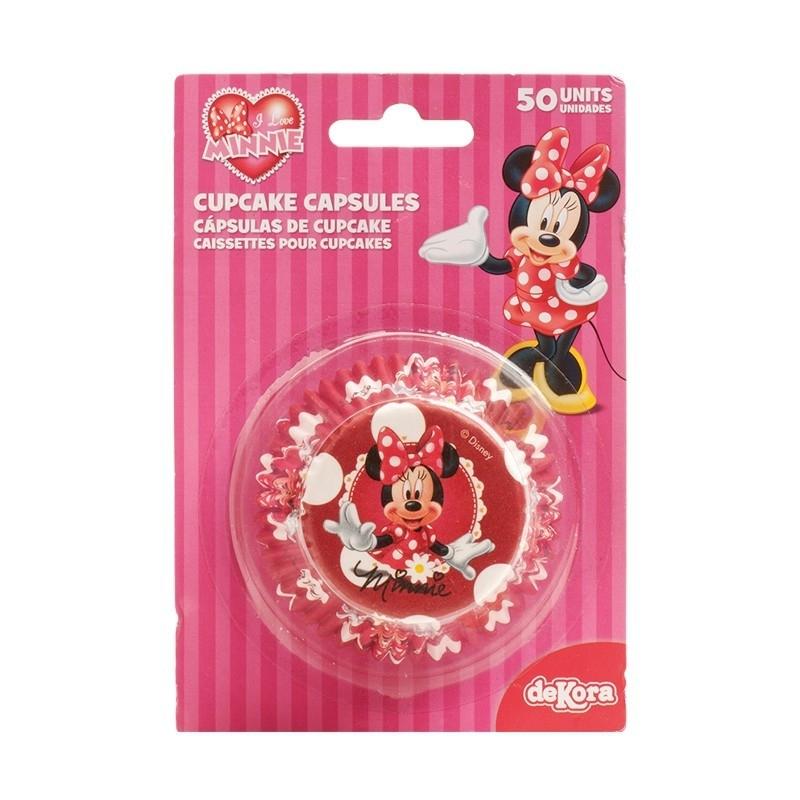 Cupcakepapiertjes Minnie Mouse