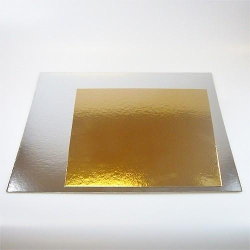 Taartkarton Zilver/Goud Vierkant - 30cm - 3 stuks