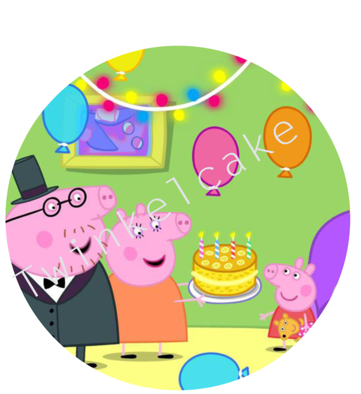 Taartprint peppa 2