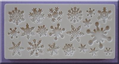 Snowflakes Alphabet Moulds