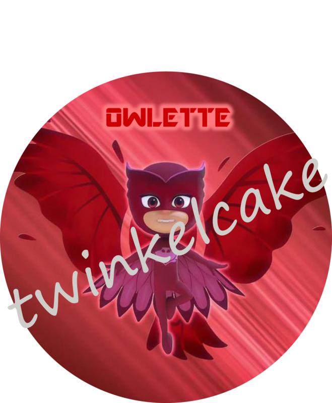 PJ MASKS Owlette taartprint A4 (eetbare print)