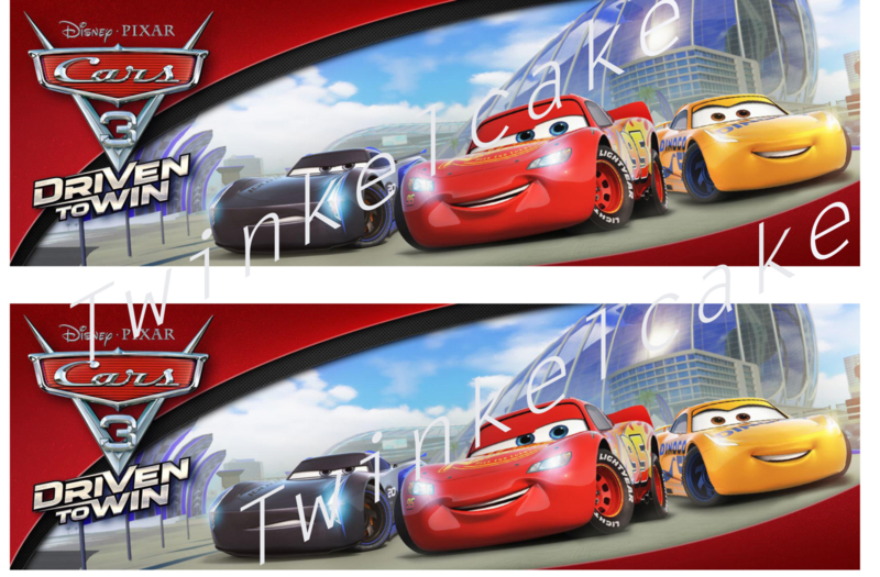 Taartband cars 6