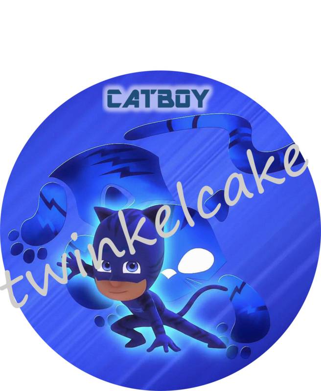 PJ Masks Catboy taartprint A4 (eetbare print)