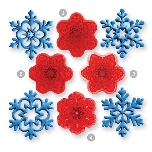 Imprint Angel Snowflake set 4 st