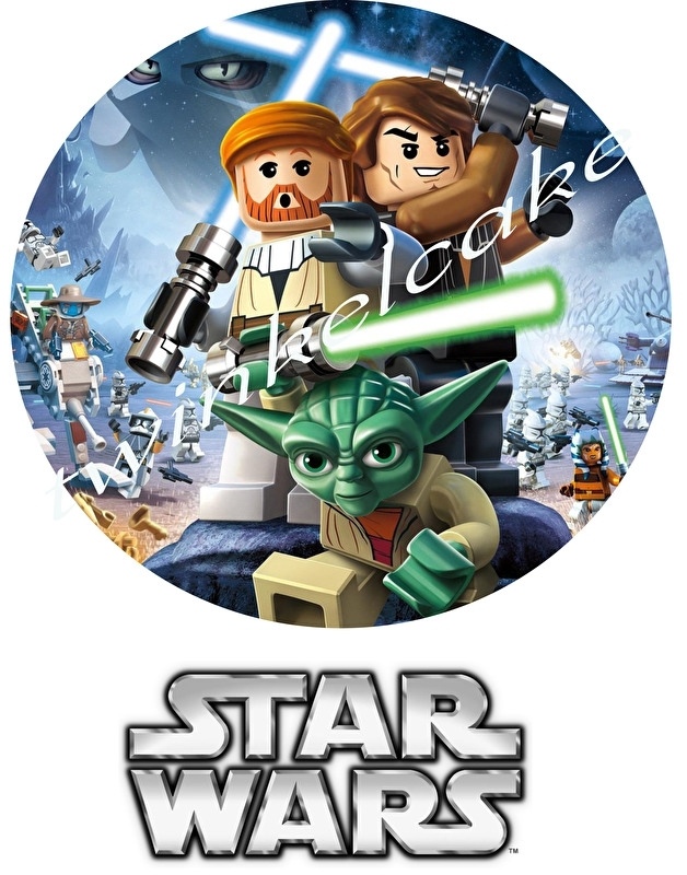 Imrimé comestible Lego Star Wars 4 grand A3