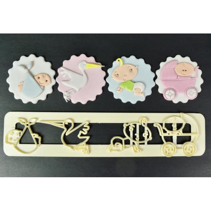 FMM Adorable Baby Ausstecher set 4 st.