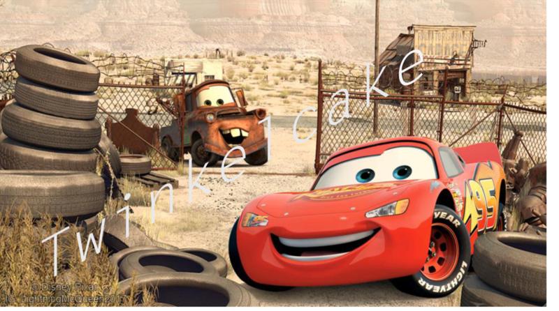 Taartprint cars rechthoek 3 groot A3