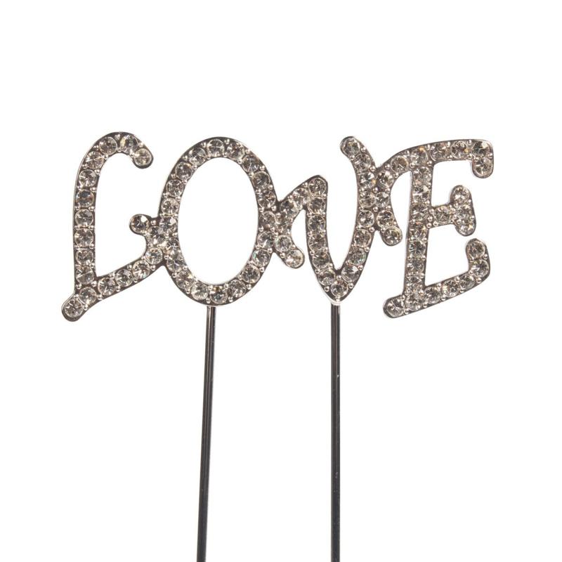Love diamanten cake topper (cake star)