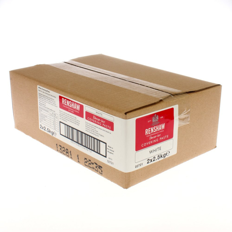 Renshaw Extra White rolfondant 5 Kg (2 x2.5 Kg)