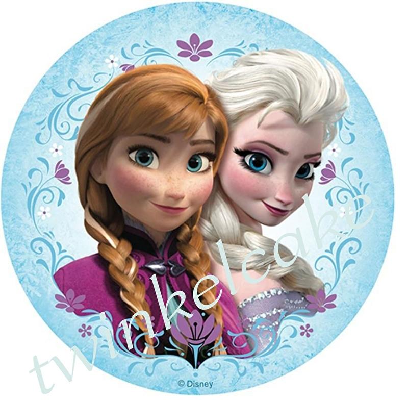 Taartprint Elsa en Anna 2
