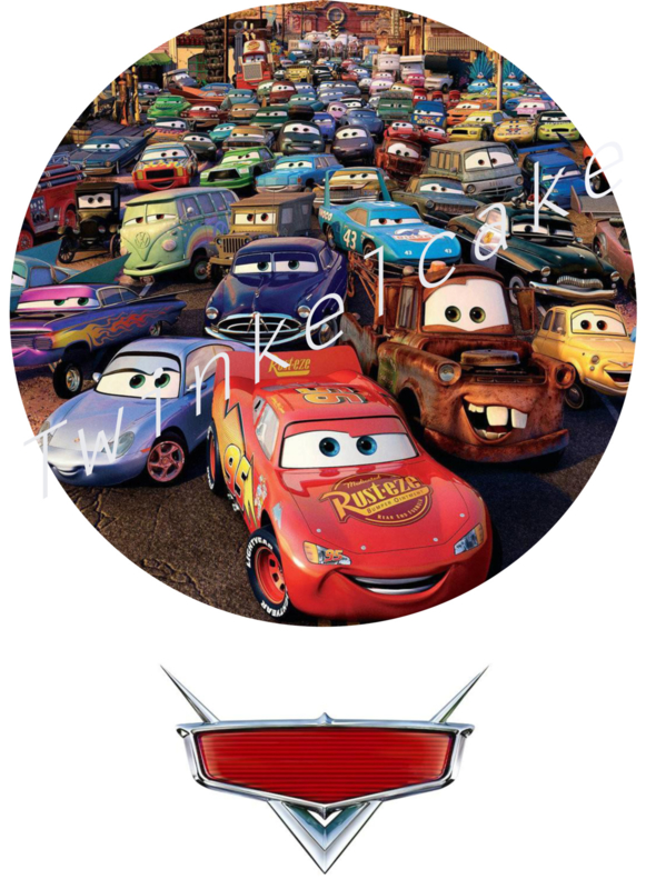 Feuille comestible gâteau cars 2 grand A3