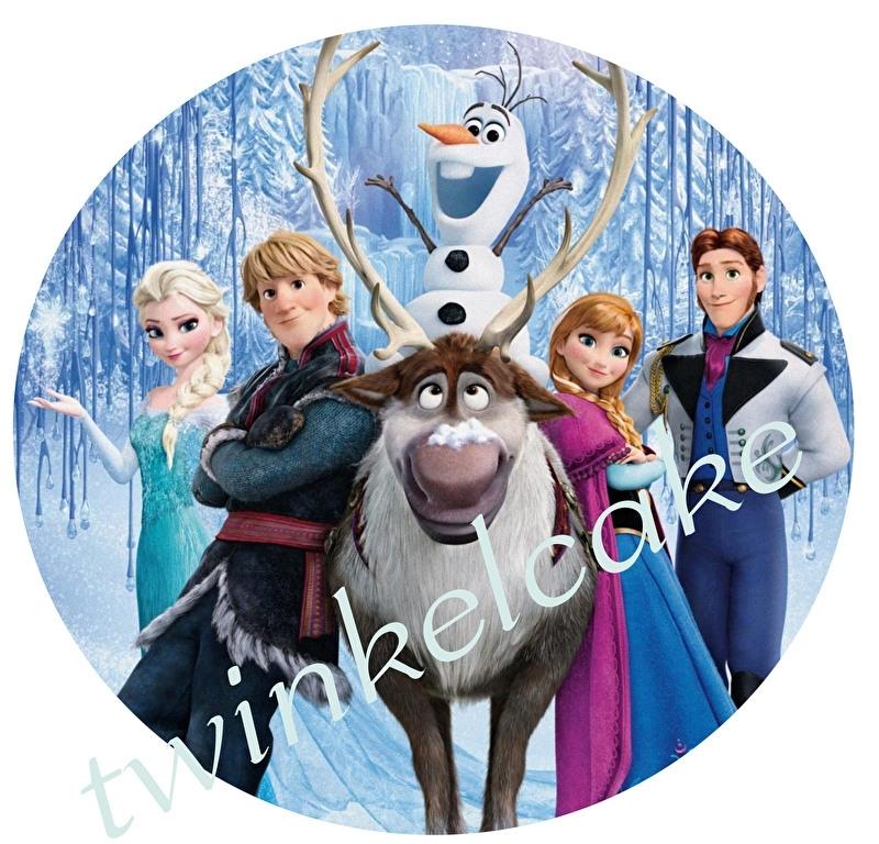 Taartprint Frozen 1