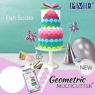 PME Geometric Fishscales set 3 st (Fischschuppen)