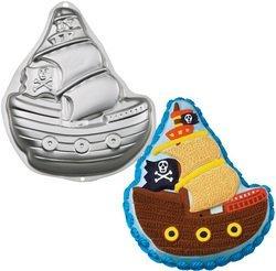 Pirate ship Wilton bakvorm 2D