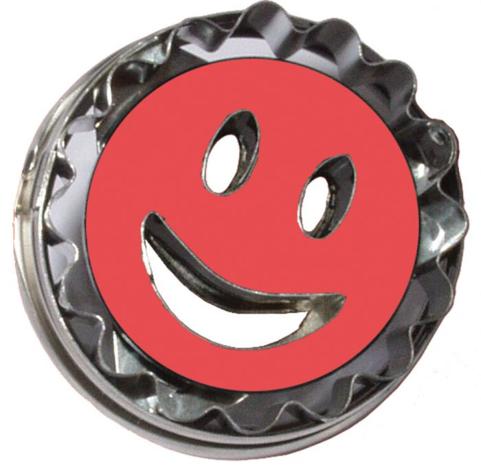 Smiley plunger/cutter in metaal - 5 cm
