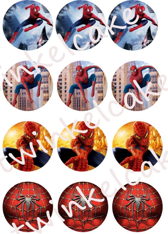 Cupcakeprint Spiderman